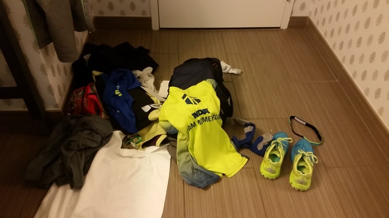 My neatly laid out race gear