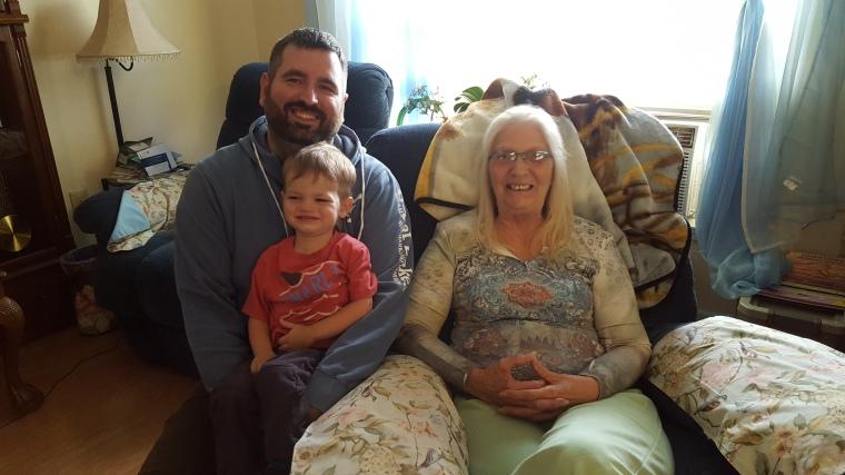 Josh, Harry, and Great Grandma!