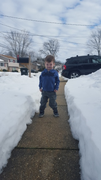50 Degrees trying to melt the snow!